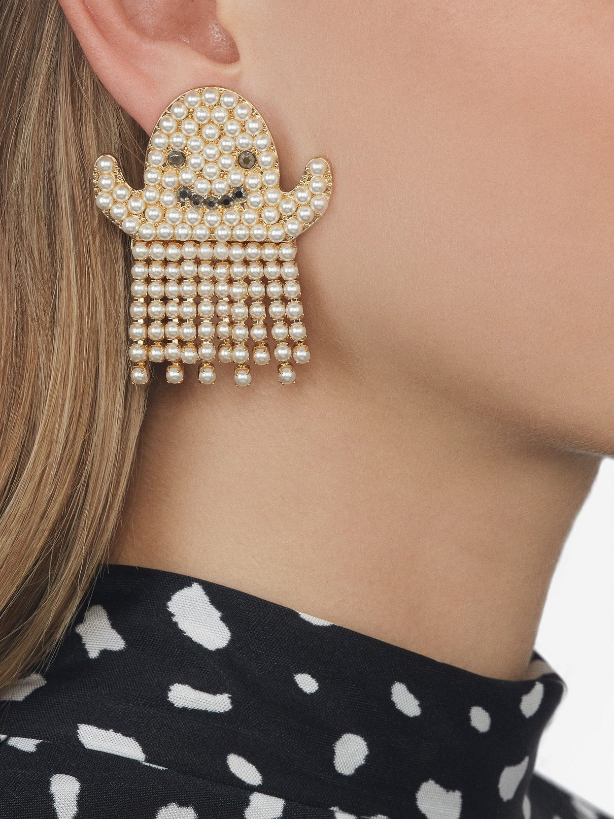 ghost earrings in pearl