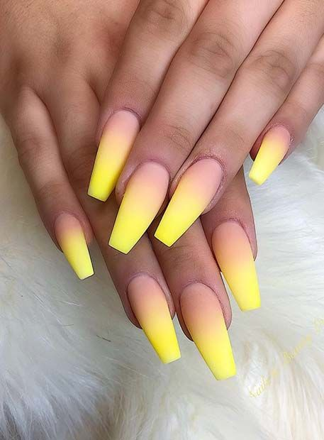 long yellow nail polish for Nail Trends in 2021