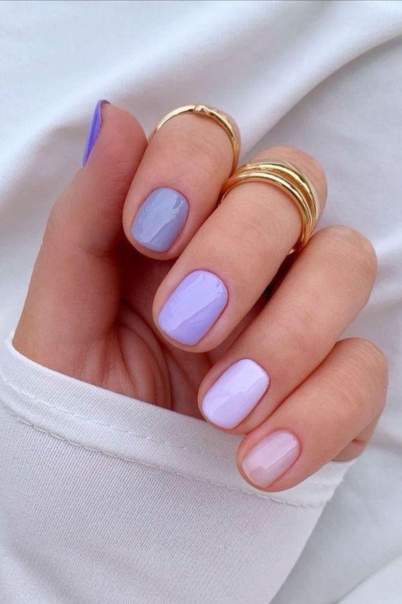shades of violet nail polish for Nail Trends in 2021